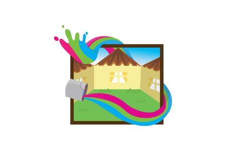 painting board logo Stock fotó - 110625115