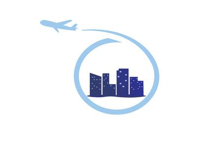 Plane city logo
