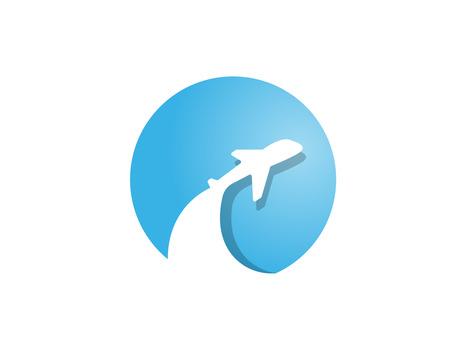 Plane abstract logo Stock fotó - 110625132