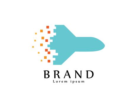 Air plane Pixels logo Illusztráció