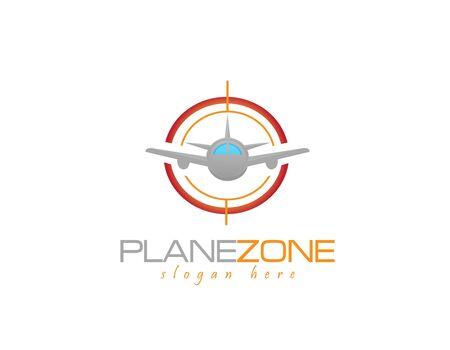 travel, logo, airship, aircraft, aerostat, sun, view, tourist, tower, light bulb, lamp, flight, fly, trip, business, creativity, icon, illustration, sign, vector Illusztráció