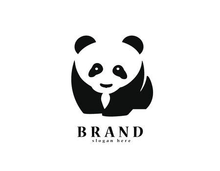 Panda - white background illustartion design