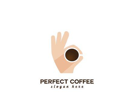 Perfect Coffee  - white background illustartion design