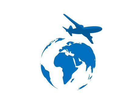 Globe Travel  - white background illustartion design Illusztráció