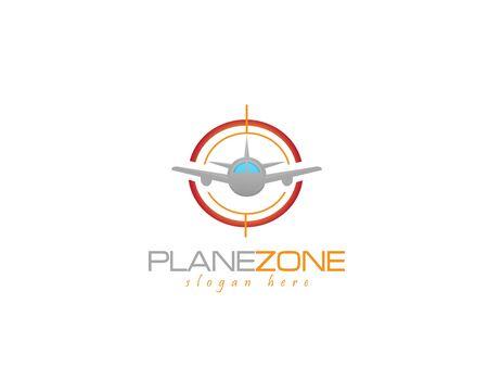 Plane zone  - white background illustartion design