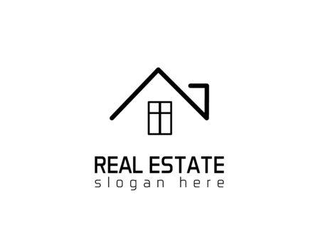 House Real estate logo - white background illustartion design