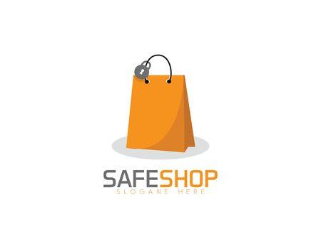 Safe shop - white background illustartion design Illusztráció