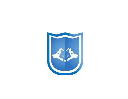 Shield wolves logo