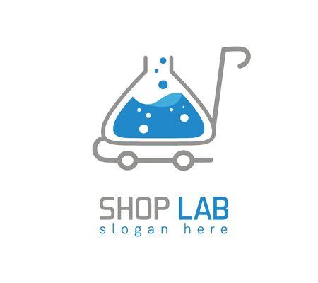Shop lab logo on white