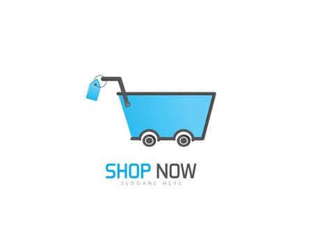 Shop now logo on white