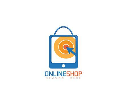 Online shop logo on white
