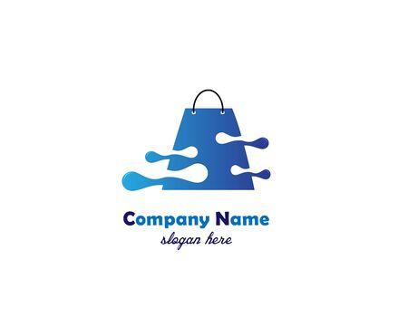 Shop business logo on white