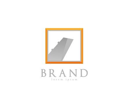 Plane agency logo on white Illusztráció