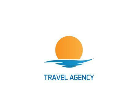 Travel agency logo on white