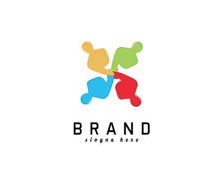 Team work logo on white