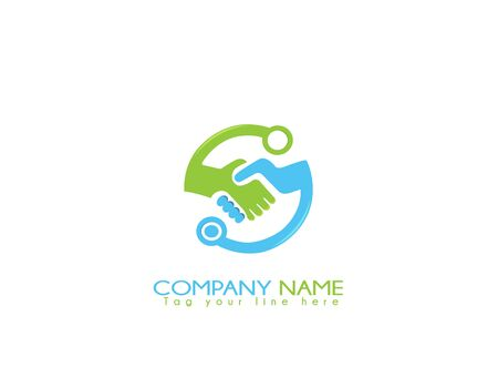 Tech deal logo on white