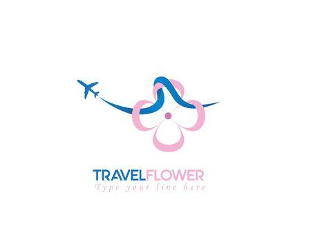 Travel flower - white background illustartion design Illusztráció