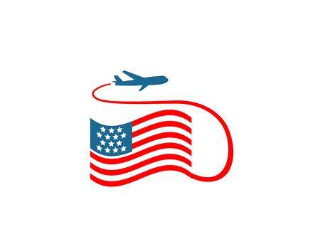 USA Travel - white background illustartion design