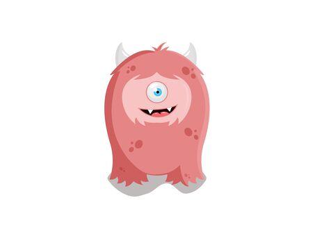 Monster logo, vector
