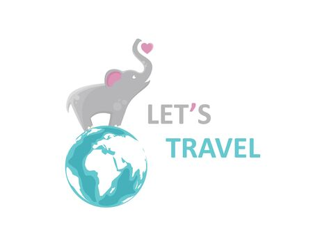 Let's Travel  icon illustration