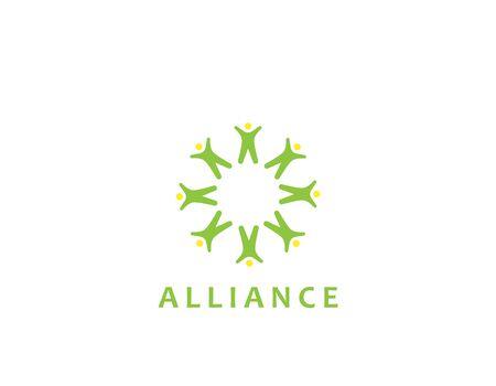 Alliance poeple logo - illustration design Illustration