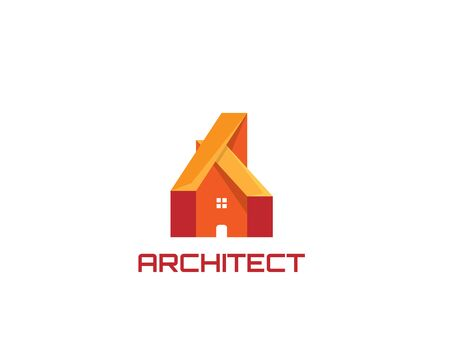 Architecture house design logo - illustration Illustration