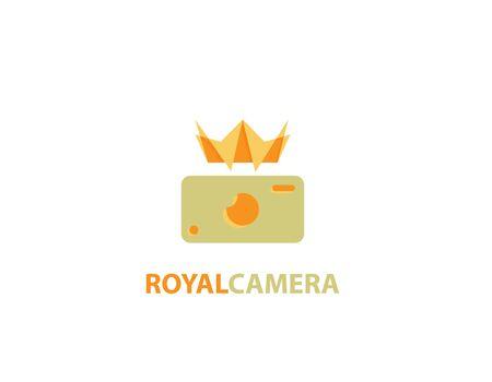 Royal Camera logo Illustration