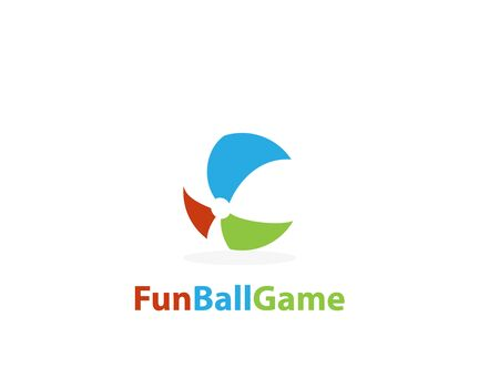 Fun beach Ball logo - illustration