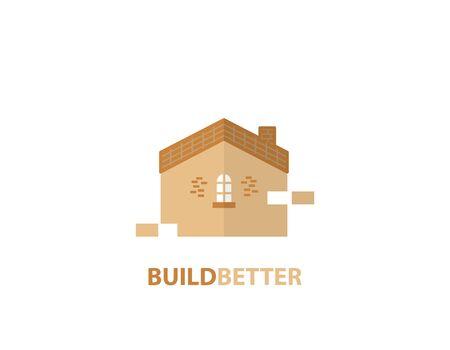 Build better decoration design logo- illustration
