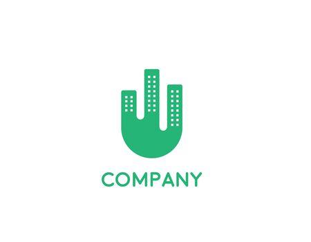 Building logo design - illustration abstract
