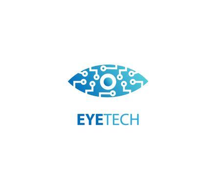 Eye tech icon design logo