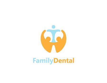 Family dental design - illustration