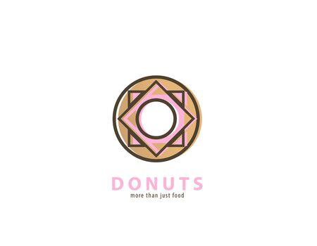 Geometric Donuts design - illustration