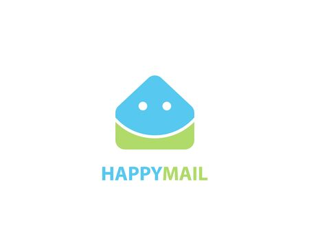 Happy mail logo Illustration