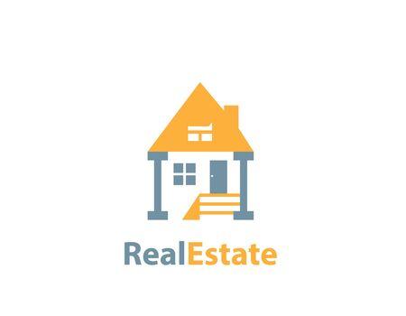 Decoration House real estate logo Illustration