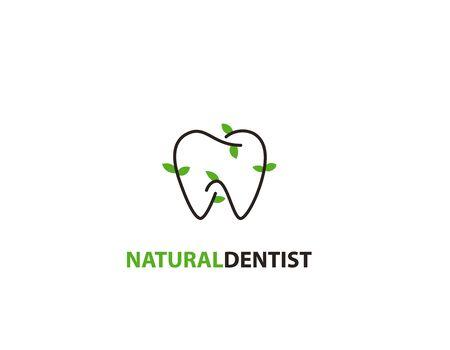 Natural dentist logo - illustration
