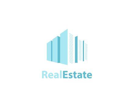 Real estate buildings logo - illustration