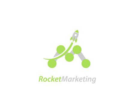 Rocket marketing design logo - illustration Illustration