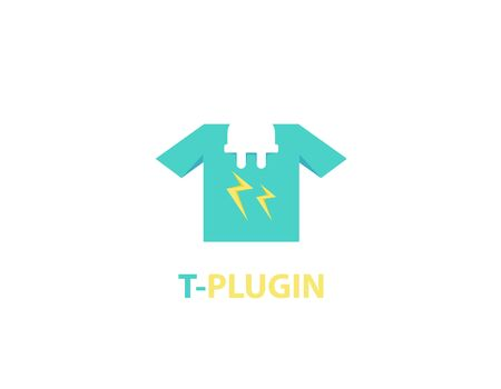 Plug in t-shirt logo design