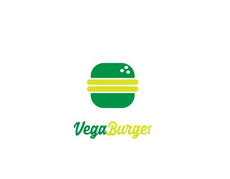 Vegan Burger Logo design - illustration