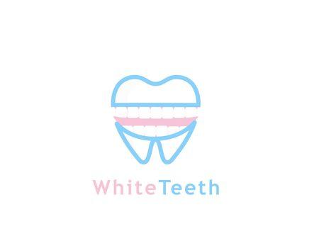 White teeth logo - illustration