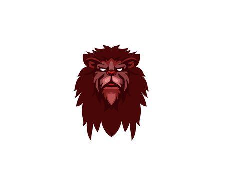 Angry Creative Lion head logo