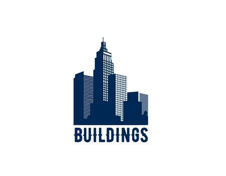 Sky Building, real estate design logo Illustration