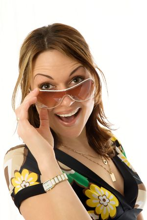 sexy young woman in sun glasses Stock Photo - 1341679