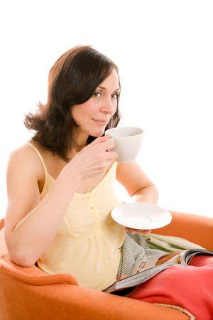 young woman enjoying a cup of tea Stock Photo - 2788713