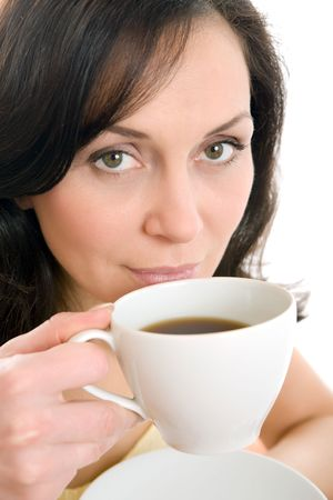 young woman enjoying a cup of tea Stock Photo - 2788714