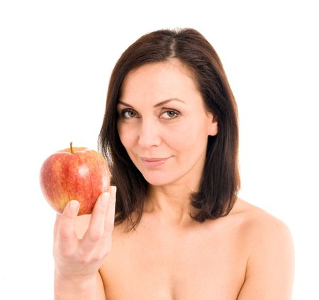 woman and apple Stock Photo - 2891489