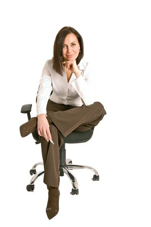 Isolated portrait shot of a beautiful caucasian woman Stock Photo - 2891604