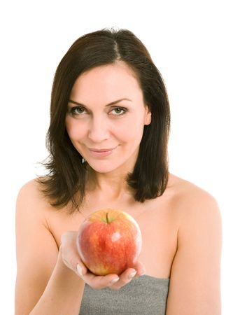 woman and apple Stock Photo - 2891612