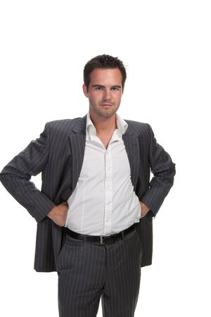 Portrait of confident business man isolated over white background Stock Photo - 5052513